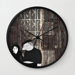 Revolution 8 - with Lyrics Wall Clock