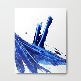 Blue Abstract Art Metal Print