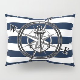 Navy Striped Nautica Pillow Sham