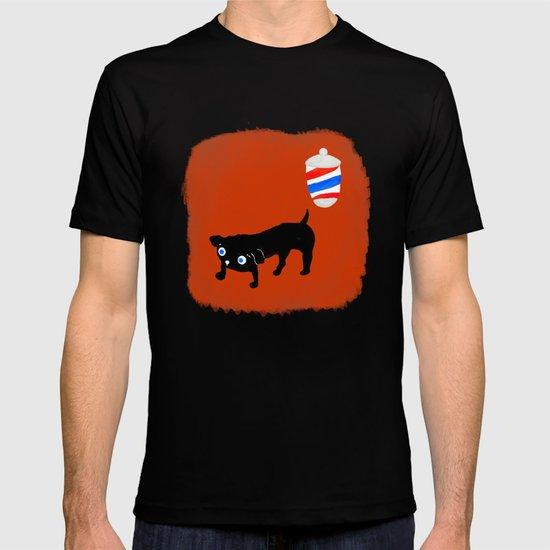 Hairdresser's black dog T-shirt