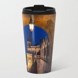 Castle Budapest- blue hour Travel Mug