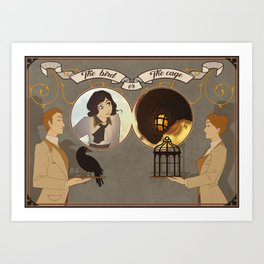 The Bird or the Cage Art Print