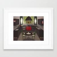 kitchen Framed Art Prints featuring Kitchen by Fran Court