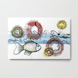 Life on the Earth - The Ocean Metal Print