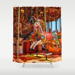 Have a ride on the merry-go-round Shower Curtain