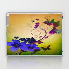 Vintage Hibiscus and Butterflies V2 Laptop & iPad Skin
