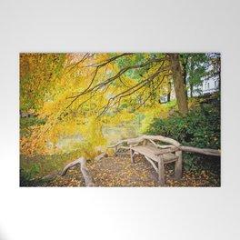 Autumn Bench Meadow Welcome Mat