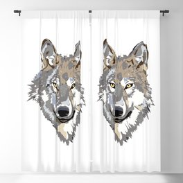 Wolf Face Blackout Curtain