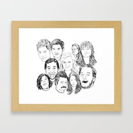 Parks and Recreation 'Rec a Sketch' Framed Art Print