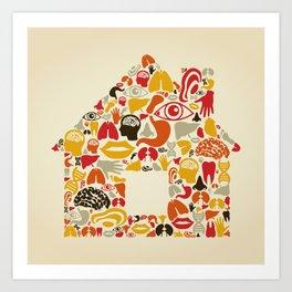 Body the house Art Print