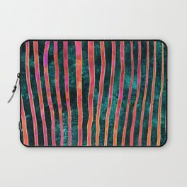 Pattern Play / Stripes on deep turquoise Laptop Sleeve