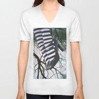 stripes V-neck T-shirts featuring Stripes by John Turck
