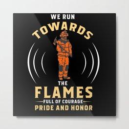 Firefighters Firefighter Fire Truck Metal Print