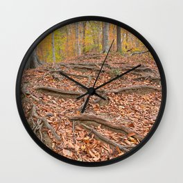 Autumn Avalon Forest Trail Wall Clock