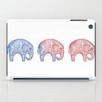 elephants iPad Cases featuring Elephants by Alibabaform
