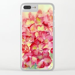 Ruby Tuesday Hydrangea Clear iPhone Case