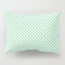 Badger Forest Friends All Over Repeat Pattern on Mint Green Pillow Sham