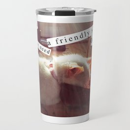 Some Days You Just Need a Friendly Shoe to Stick Your Face In Travel Mug