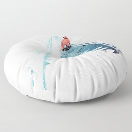 From nowhere to nowhere Floor Pillow