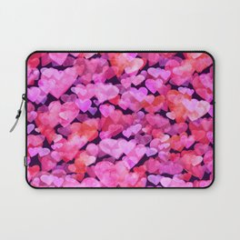 Boken watercolor romantic hearts Laptop Sleeve