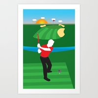 sith Art Prints featuring Sith Golf by BHHS Graphic Design