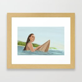 Surfer Girl Framed Art Print