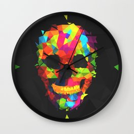 Meduzzle: Colorful Geometry Skull Wall Clock