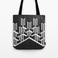 illusion Tote Bags featuring Illusion by designpraxis