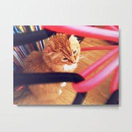 Under bungee chair Metal Print