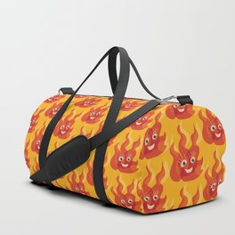 Happy Burning Cartoon Fire Duffle Bag