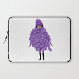Really Really Really Fuckin Cold (Purple) Laptop Sleeve