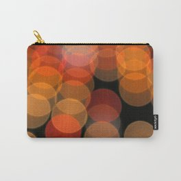 Blurred Orange Lights Carry-All Pouch