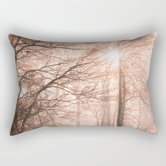 Misty Sun Kissed Trail Rectangular Pillow