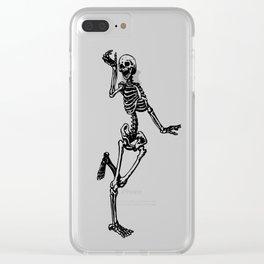 Dancing Skeleton Clear iPhone Case
