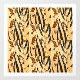 Golden Eucalyptus Art Print