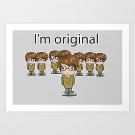 I'm Original Art Print