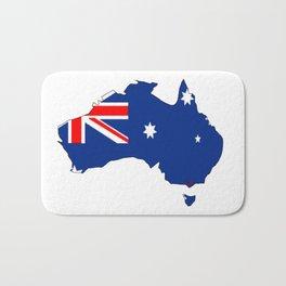 Australia Map with Australian Flag Bath Mat