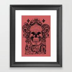 Cobra skull Framed Art Print
