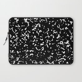 Black and White Abstract Pattern Laptop Sleeve