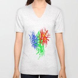 Splashing Colours Unisex V-Neck