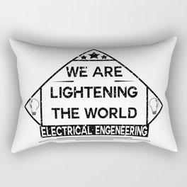 We are lightening the world, electrical engeneering Rectangular Pillow