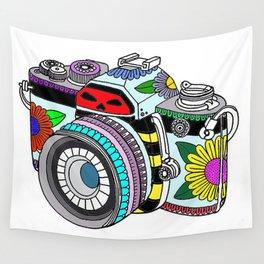 Flower camera Wall Tapestry