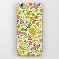 fruit iPhone & iPod Skins featuring Fruit Mix by Anna Deegan