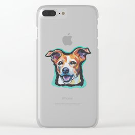 Fun Jack Russell Terrier Portrait bright colorful Dog  Pop Art by LEA Clear iPhone Case