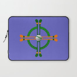 Hurley and Ball Celtic Cross Design - Solid colour background Laptop Sleeve