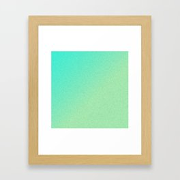 Green Ombre Glitter Look Framed Art Print