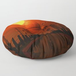 Taj Mahal Sunset Floor Pillow