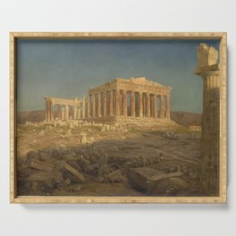 The Parthenon by Frederic Edwin Church Serving Tray