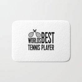 Worlds Best Tennis Player   Sports Gift Idea Bath Mat