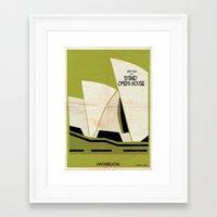babina Framed Art Prints featuring Sydney Opera House by federico babina